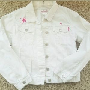 American Girl white denim jacket size M